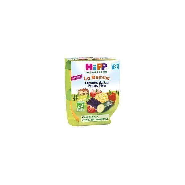 HiPP - 2 bols Legumes du Sud petites pates des 8 mois 2x190g