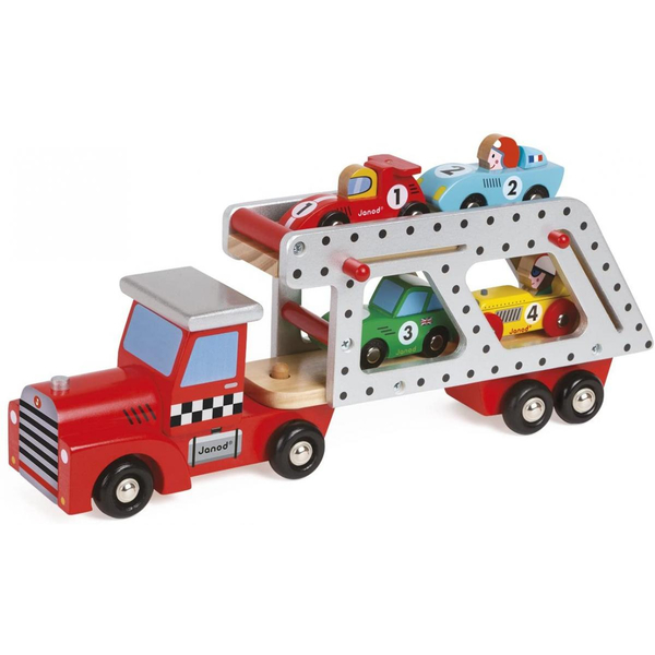Janod - Camion Transporteur 4 Voitures Story