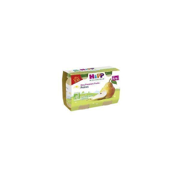 HiPP - 2 pots poires mes premiers fruits dès 4-6 mois 2x125g