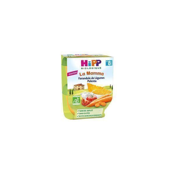 HiPP - 2 bols Farandole de legumes polenta 2x190g