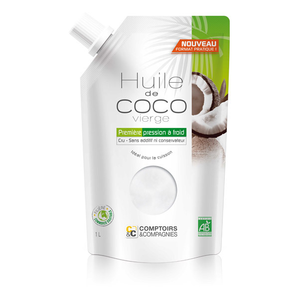 Comptoirs et Compagnies - Huile de Coco Vierge Bio - Doypack 500mL