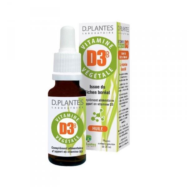 D.Plantes - Lot de 2 x Vitamine D3 Végétale - 2 x 20mL