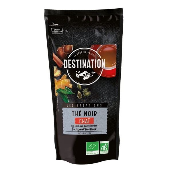 Destination - Thé noir Chaï aux 4 épices 100g