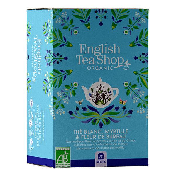 English Tea Shop - Thé blanc Fleur de sureau myrtille 20 sachets