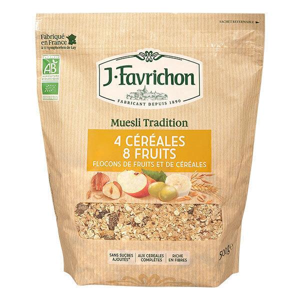 Favrichon - Muesli 4 céréales 8 fruits Bio 500g