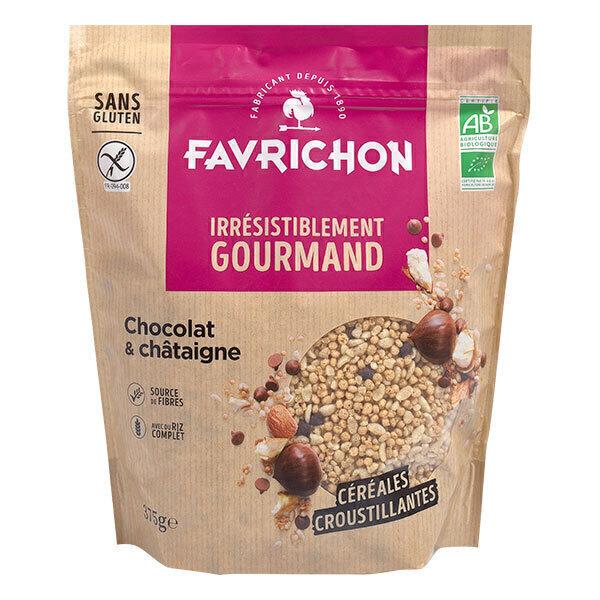 Favrichon - Muesli croustillant Chocolat châtaigne bio 375g