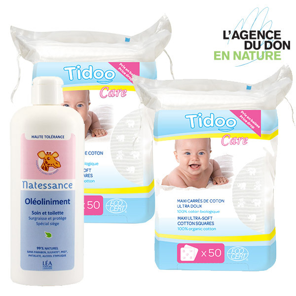 Packs don en nature - Pack don en nature Liniment et Cotons