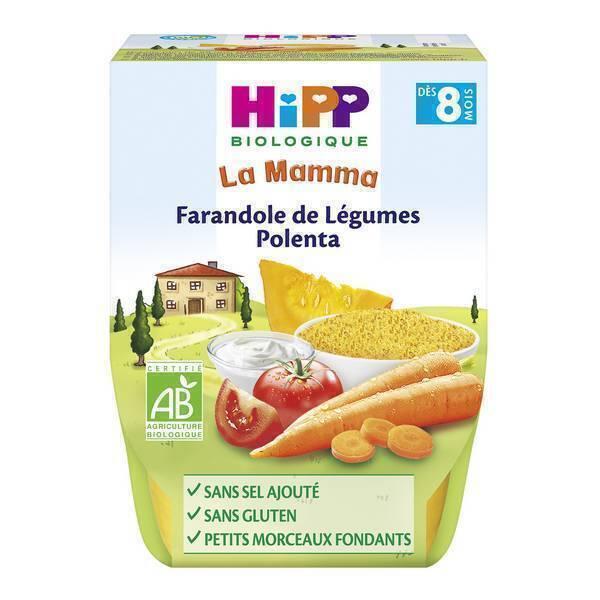 HiPP - 2 bols Farandole de légumes polenta 2x190g