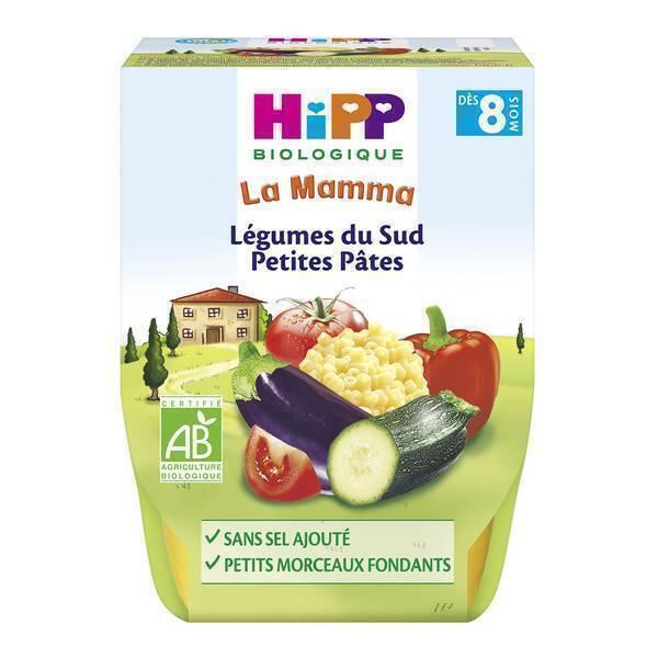 HiPP - 2 bols Légumes du Sud petites pâtes dès 8 mois 2x190g