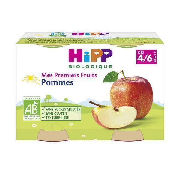 Hipp - 2 pots Pommes Mes premiers fruits 2 x125g 4-6 mois