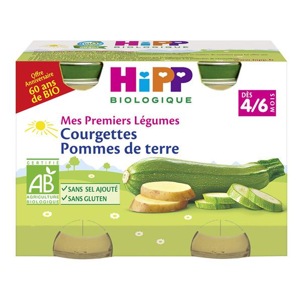 Hipp - 2 pots Courgettes Pommes de terre 2x125g Dès 4-6 mois