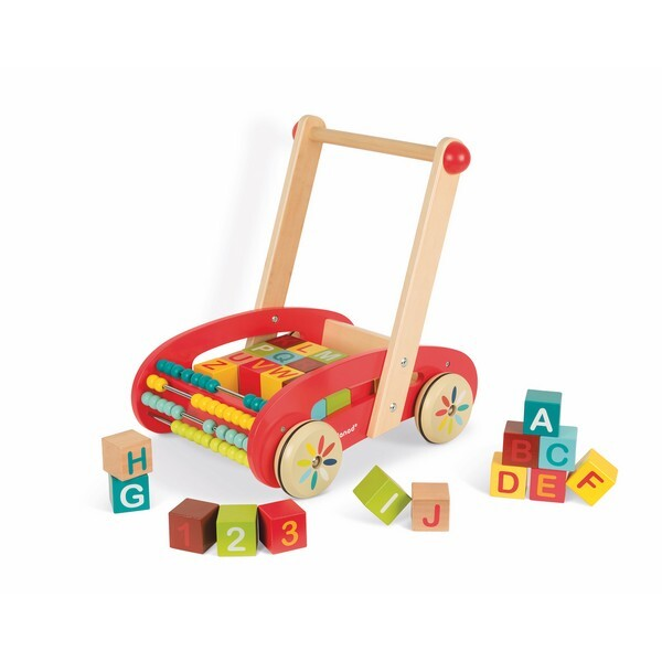Janod - Chariot Abc Buggy Tatoo - 30 Cubes