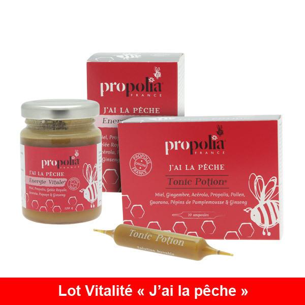 """Propolia - Cure Vitalité """"J'ai la pêche"""" - Energie Vitale & Tonic Potion"""