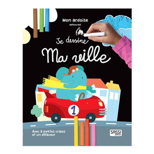 "SASSI Junior - Grande ardoise ""Je Dessine ma Ville"" - Dès 3 ans"