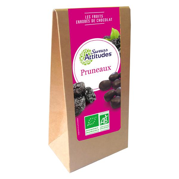 Saveurs Attitudes - Pruneaux enrobés de chocolat noir Bio 125g