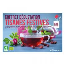 Aromandise - Coffret dégustation tisanes festives 36 sachets