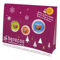 Benecos - Coffret Gel Douche, Lotion Corps & Crème Mains - Abricot Sureau
