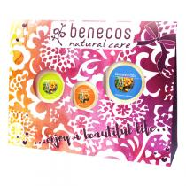 Benecos - Coffret Gel Douche, Lotion Corps & Crème Mains -Argousier Orange