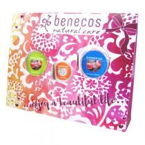 Benecos - Coffret Gel Douche, Lotion Corps & Crème Mains - Grenade & Rose