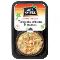 Carte Nature - Tarte poireaux et saumon 230gr