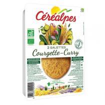 Céréalpes - 2 Galettes céréales courgettes curry 180gr