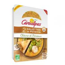 Céréalpes - 2 Galettes polenta chèvre poireaux 160gr
