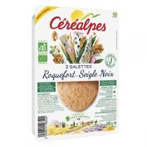 Céréalpes - Galettes fines roquefort seigle noix 2x90gr