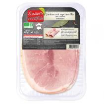 Eleveurs Certifiés - Jambon cuit 2 tranches avec couenne 90gr