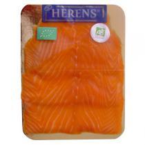 Herens - Plaquette saumon fumé BIO x4 tranches - 160g