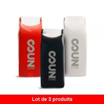 ID Cook - Lot de 3 briquets Suncase - Noir, Rouge et Blanc