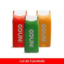 ID Cook - Lot de 3 briquets Suncase - Vert, Orange et Rouge