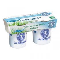 La Bergerie - Yaourt brebis nature demi-écrémé 2x125g