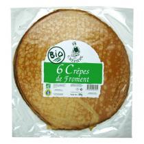 La Crêpière - Crêpes de froment bio x6 - 300g