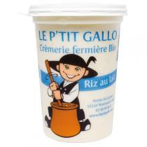Le P'tit Gallo - Riz au lait Bio Pot 500g