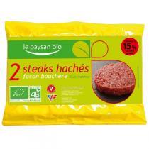 Le Paysan Bio - 2 Steaks hachés Façon bouchère 250g
