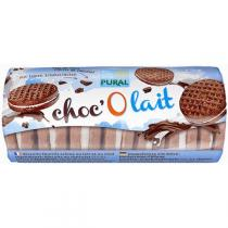 Pural - Biscuit fourré chocolat choc'O lait 85g