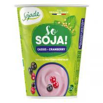 Sojade (Frais) - Sojade cassis/cranberry 400g