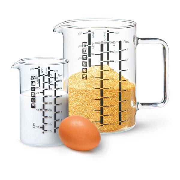 Simax - Set de 2 verres mesureurs 1L et 500ml