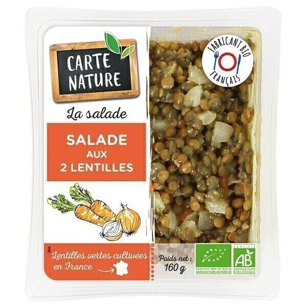 Carte Nature - Salade aux 2 lentilles 160g