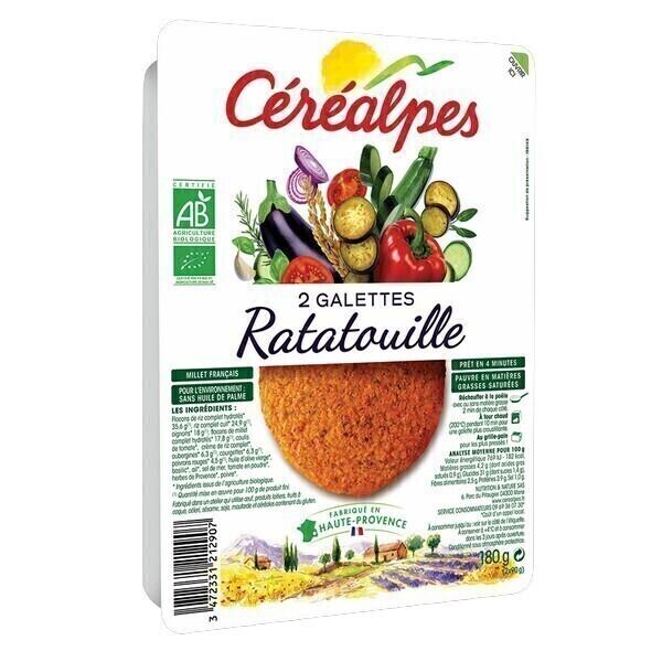 Céréalpes - 2 Galettes céréales ratatouille 180gr