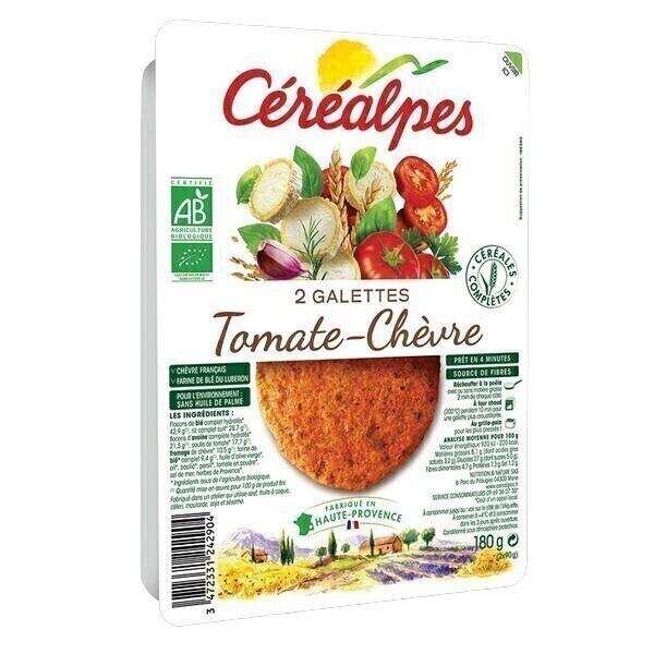 Céréalpes - 2 Galettes céréales tomate chèvre 180gr