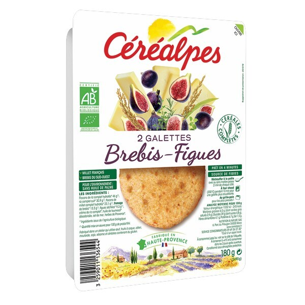 Céréalpes - 2 Galettes fromage brebis figue 180gr