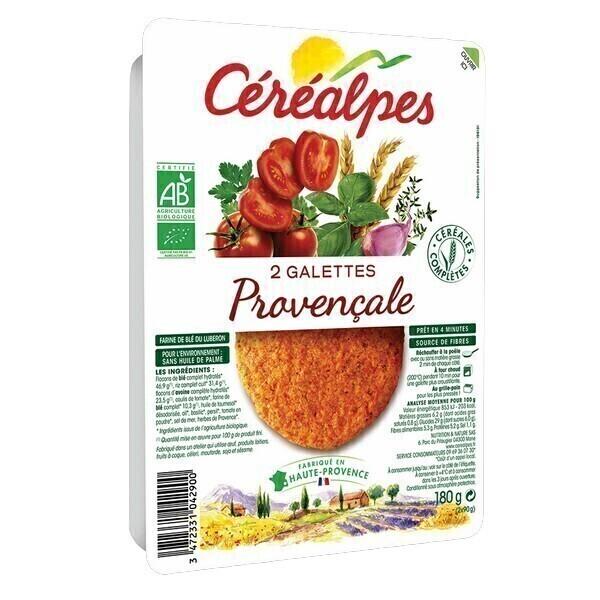 Céréalpes - 2 Galettes végétales provençales 180gr