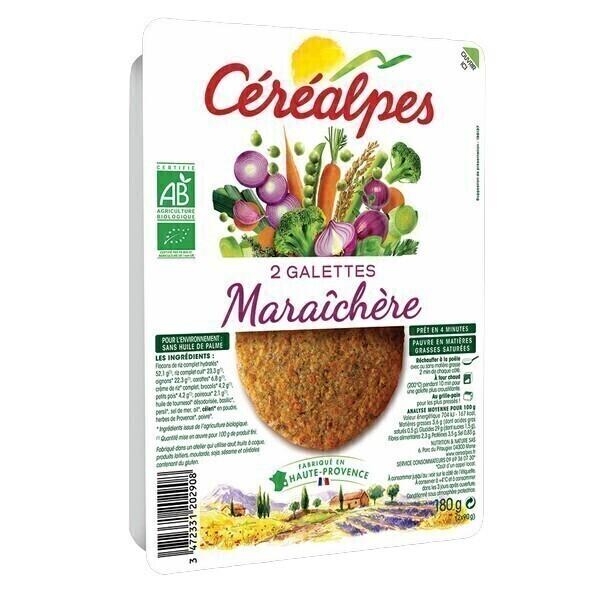 Céréalpes - 2 Galettes céréales maraîchères 180gr
