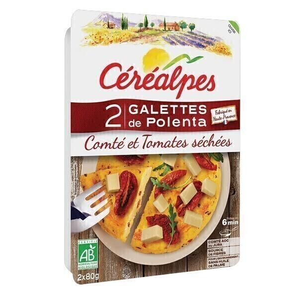 Céréalpes - Galettes polenta comté tomates sechées 180g