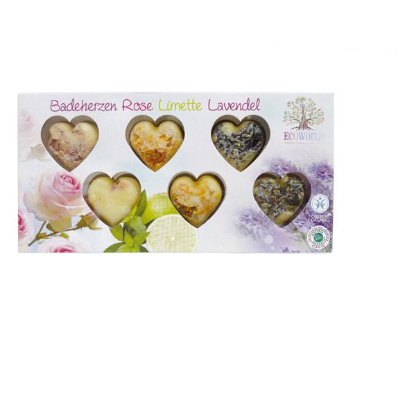 Ecoworld - Boîte de 6 Coeurs effervescents pour le bain