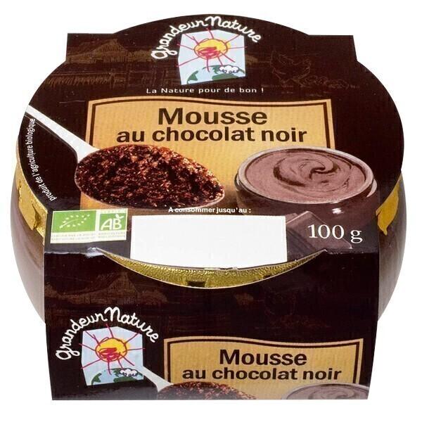 Mousse Au Chocolat Noir 100g Grandeur Nature