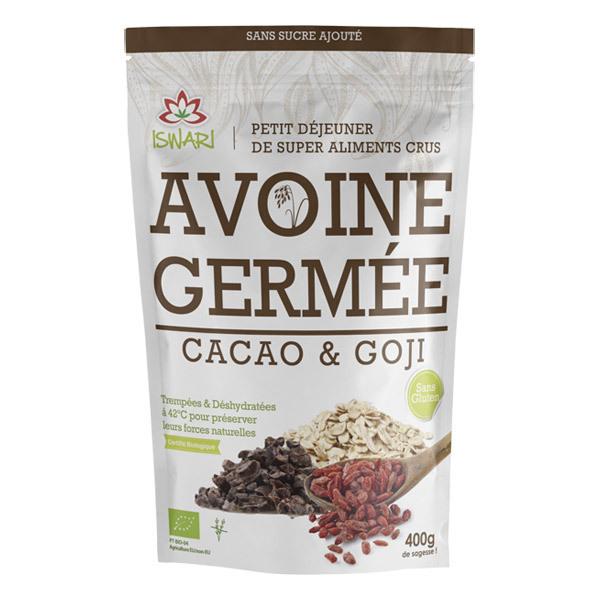 Iswari - Avoine Germée sans Gluten Cacao & Goji 400gr