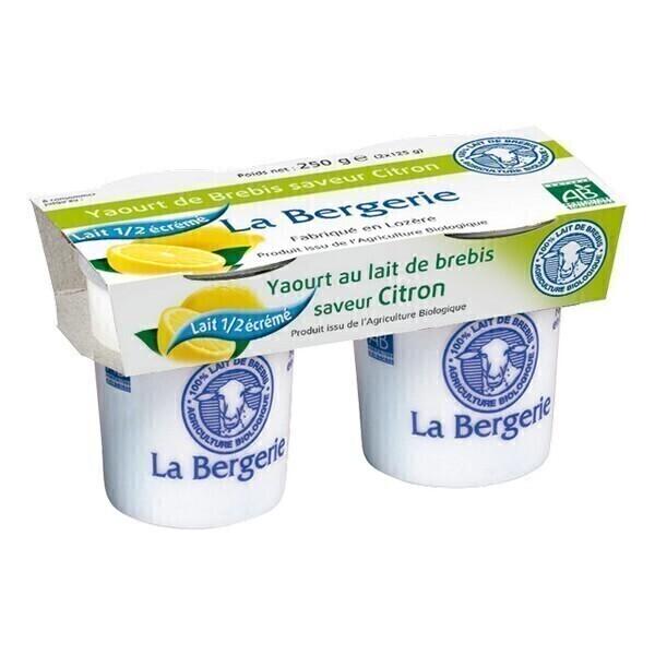 La Bergerie - Yaourt brebis citron demi-écrémé 2x125g