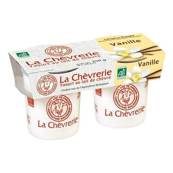La Chèvrerie - Yaourt chèvre vanille 2x125g